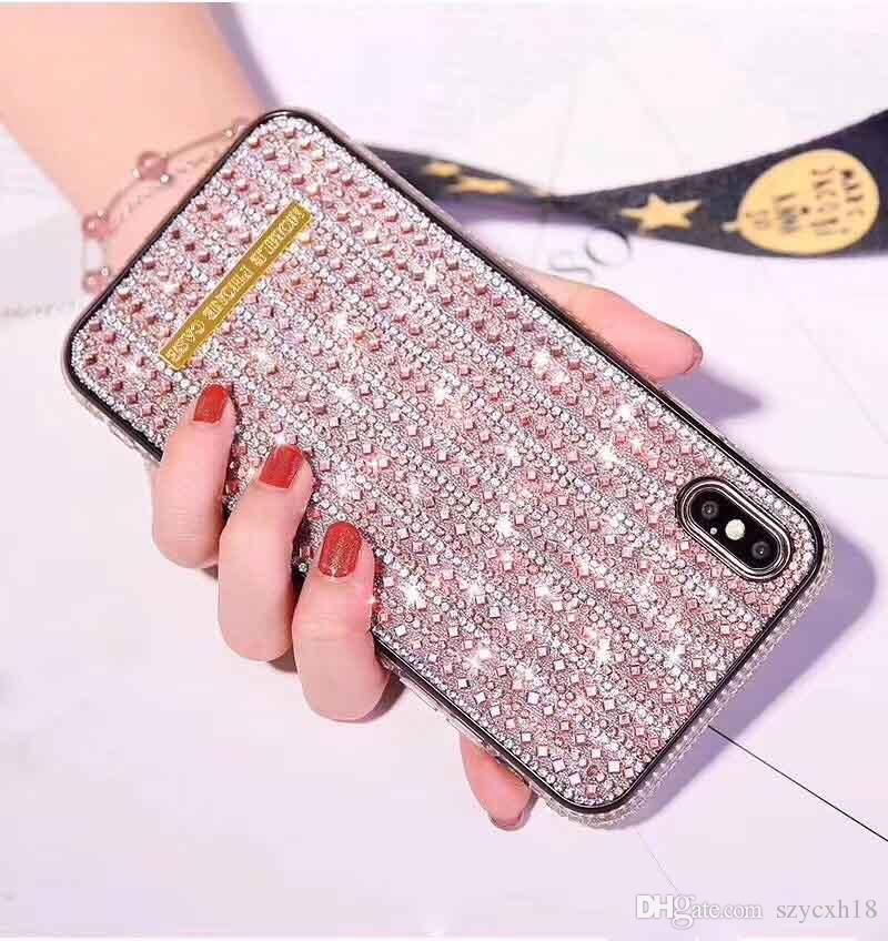 Luxury Phone Cases for iPhone 11 pro max Diamond Shiny Crystal Bling Cover for iphone XR XS 7 8 plus Note10 Hua Wei P30 pro back cover shell