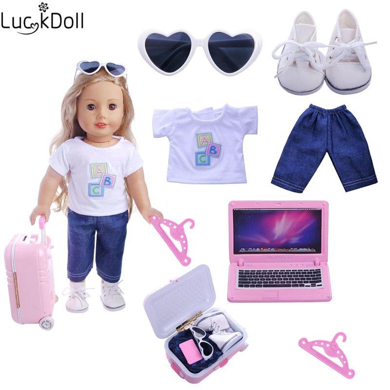 송료 무료 E - packets 인형 크리스마스 선물 6 개 세트 / 18 인치 미국 Doll43 Cm 인형 소녀의 장난감 인형 (행거 5 개 포함) MX190801