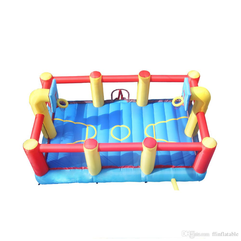 Customized Inflatable Basketball Court with Hoop for Outdoor Indoor Sports Commercial Jumping Castle for Basketball Game