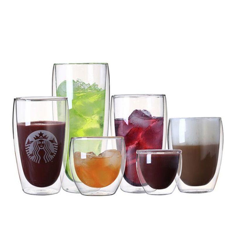 yumurta kapları 80 ml 290 ml şeffaf çift duvar çift cam kahve çay bardağı cam süt bira çorba ve yalıtılmış şarap bardağı