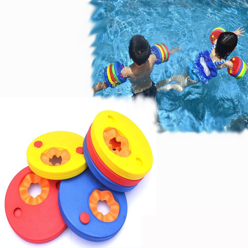 소매 풍선 수영장 플로트 보드 아기 수영 부동 6PCS / 팩 EVA 거품 수영 디스크 암 밴드 서클 링을 연습