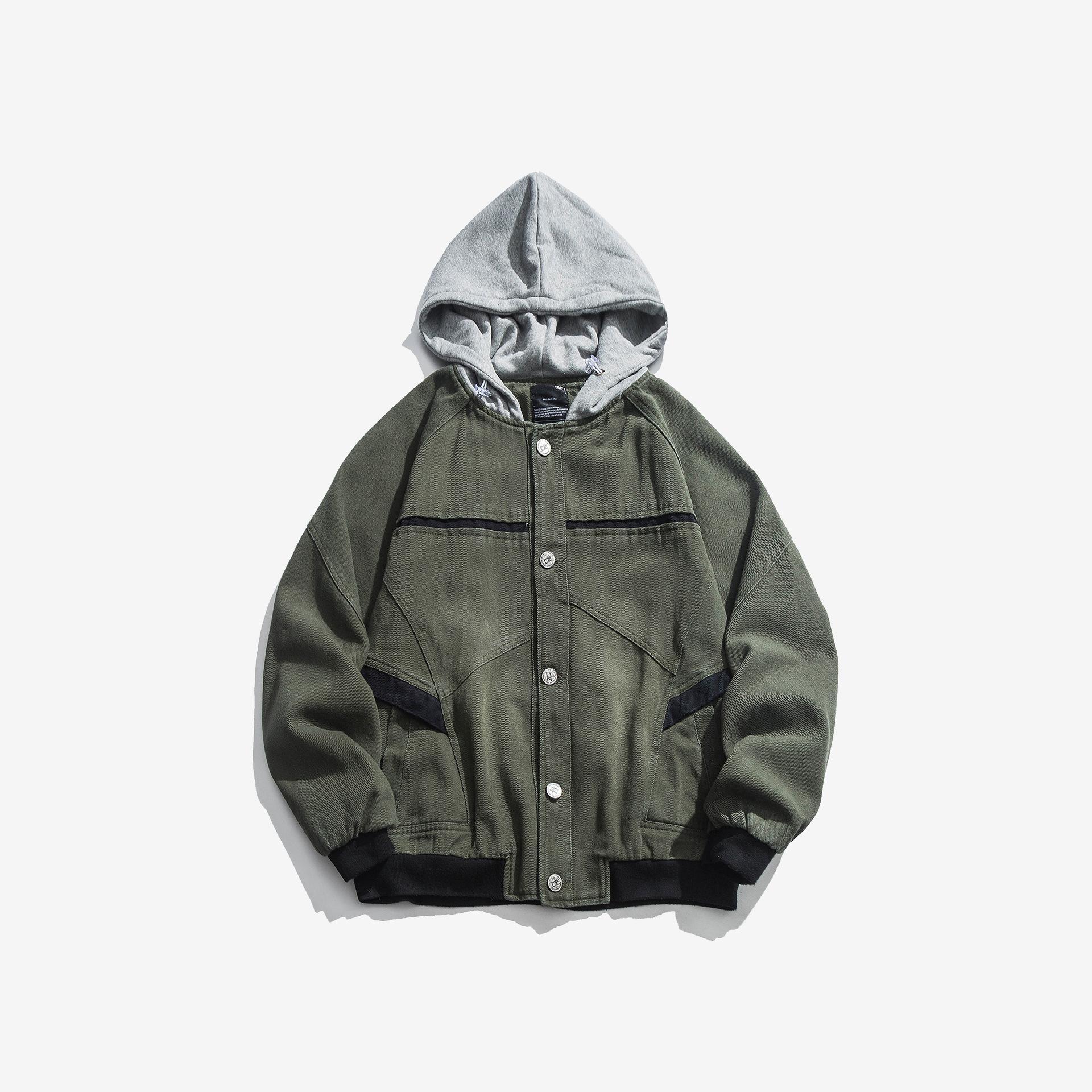 Город, где продукт Origional осень новый стиль Японский стиль уличная куртка с капюшоном рабочая одежда пальто Мужские