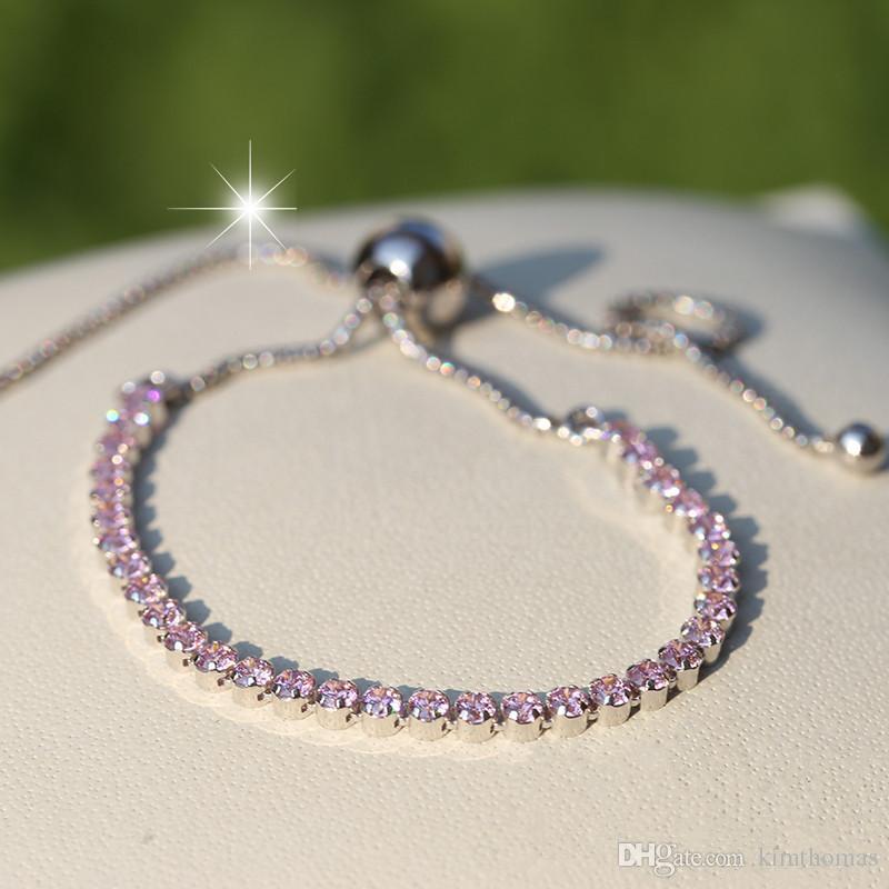 Armbänder passt Silber europäisch Pandora Tennis Armband Sterling für Slider Charms 925 Funkelnde und Perlen Cowrd