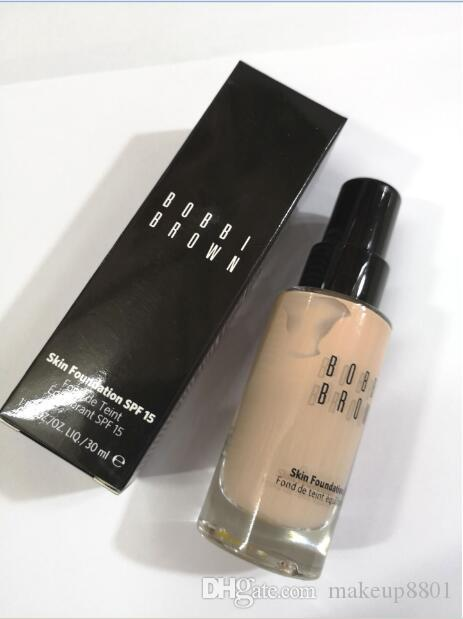 hot selling ! epacket free shipping newest Foundation brand Makeup Foundation high quality 30 ml skin foundation spf15