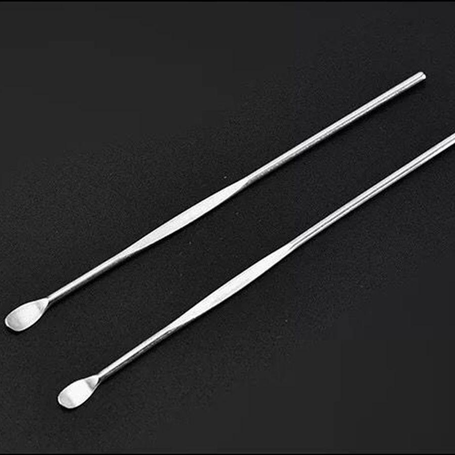 Ear Pick-poignée oreille en acier inoxydable Cire cérumen curette Remover outil de nettoyage Earpick cuillère nettoyage Outils de soins de santé RRA2559