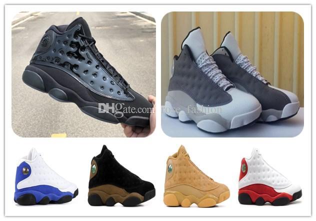 Kutu ile 13 Kap ve Kıyafeti Basketbol Ayakkabıları 13 s Atmosfer Gri Chicago bred XIII Buğday Spor Sneaker Erkekler footwears Atletizm ücretsiz shippment