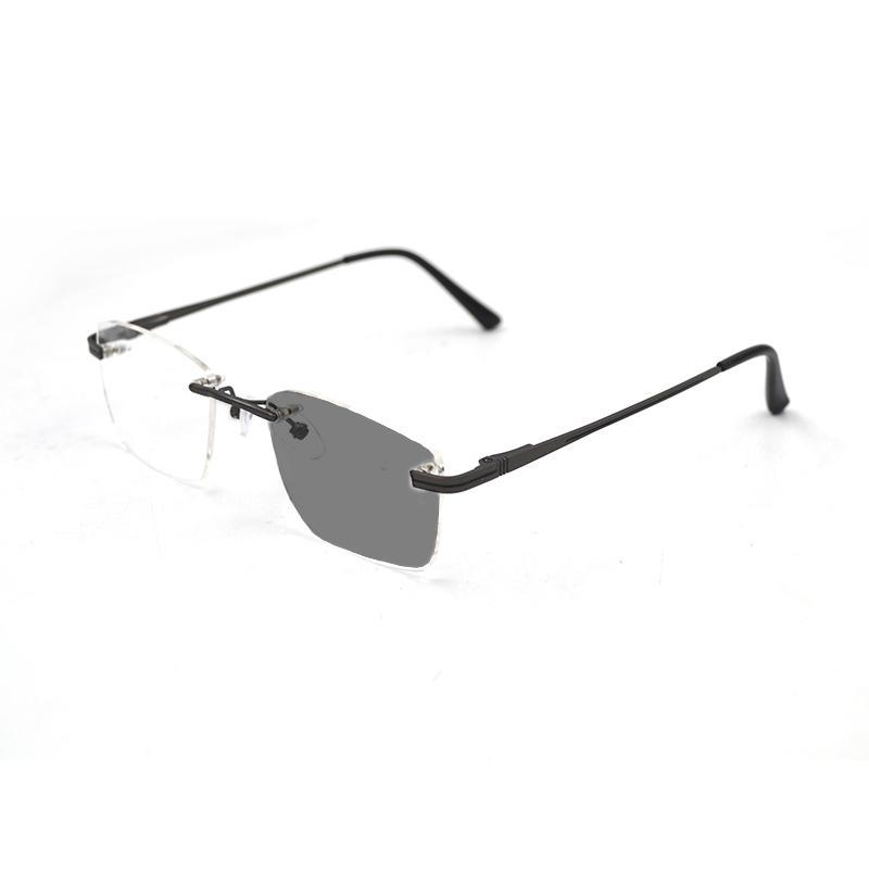Без оправы фотохромные близорукие солнцезащитные очки для женщин мужчин Бизнес близорукие очки Мода близорукие очки 0, -1.0~-6.0 N5