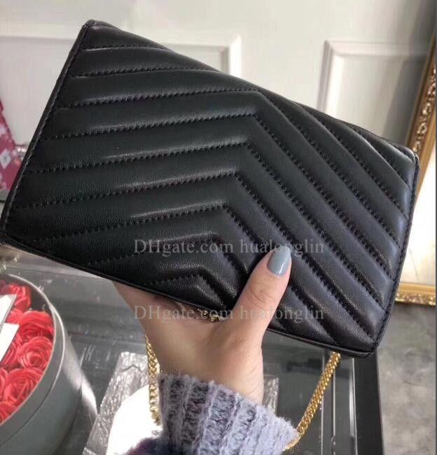 Donne del cuoio genuino sacchetto di alta qualità scatola originale spalla del messaggero della borsa della borsa