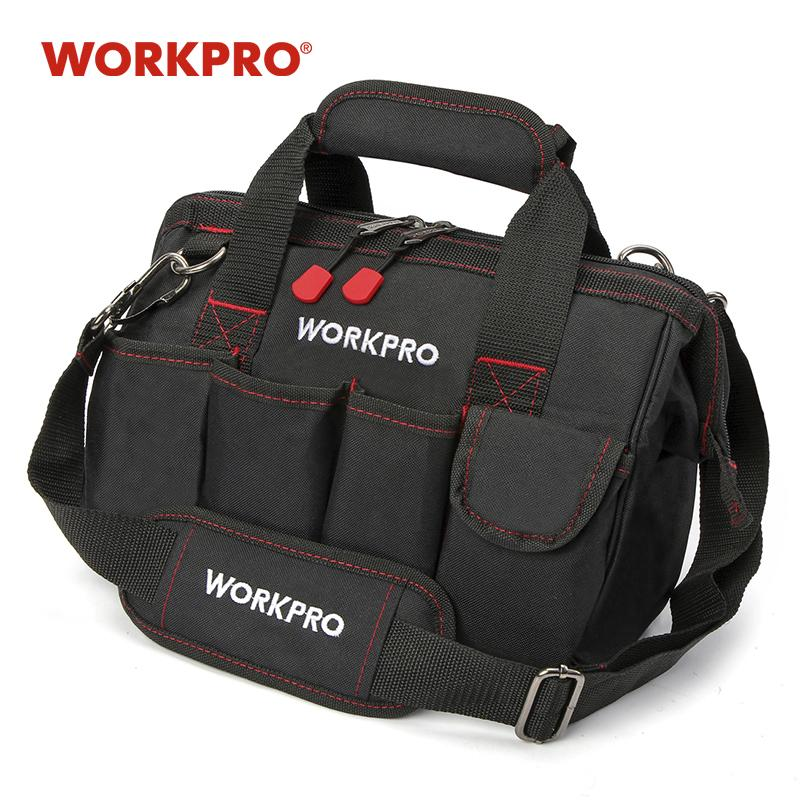 s WORKPRO 12 pulgadas bolsa de poliester 600D electricista hombro kits de herramientas de la bolsa de herramientas BAG