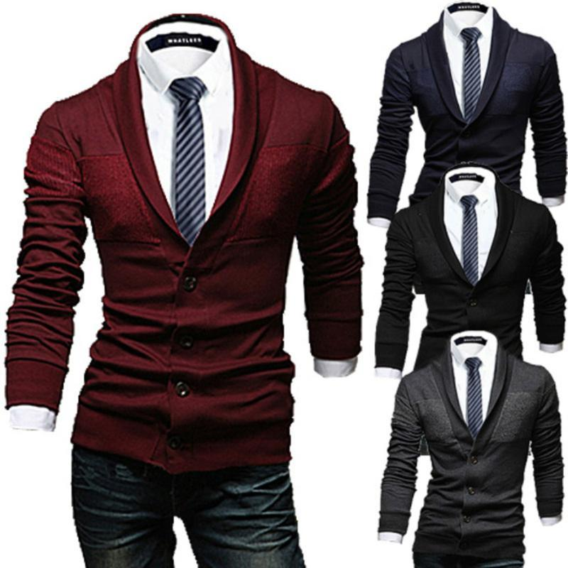 Zogaa New Men Casual Sweater Slim Lapel Knitted Cardigan Sweaters V Neck Long Sleeve Big Button Mens Sweaters Winter Clothes