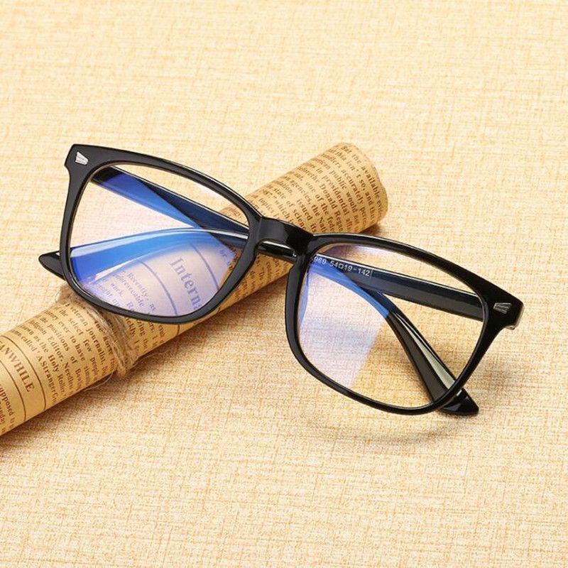 Trasparente Computer bicchieri per le donne gli uomini Spectacle Telaio anti Blu Ray obiettivo chiaro Moda occhiali Oculos