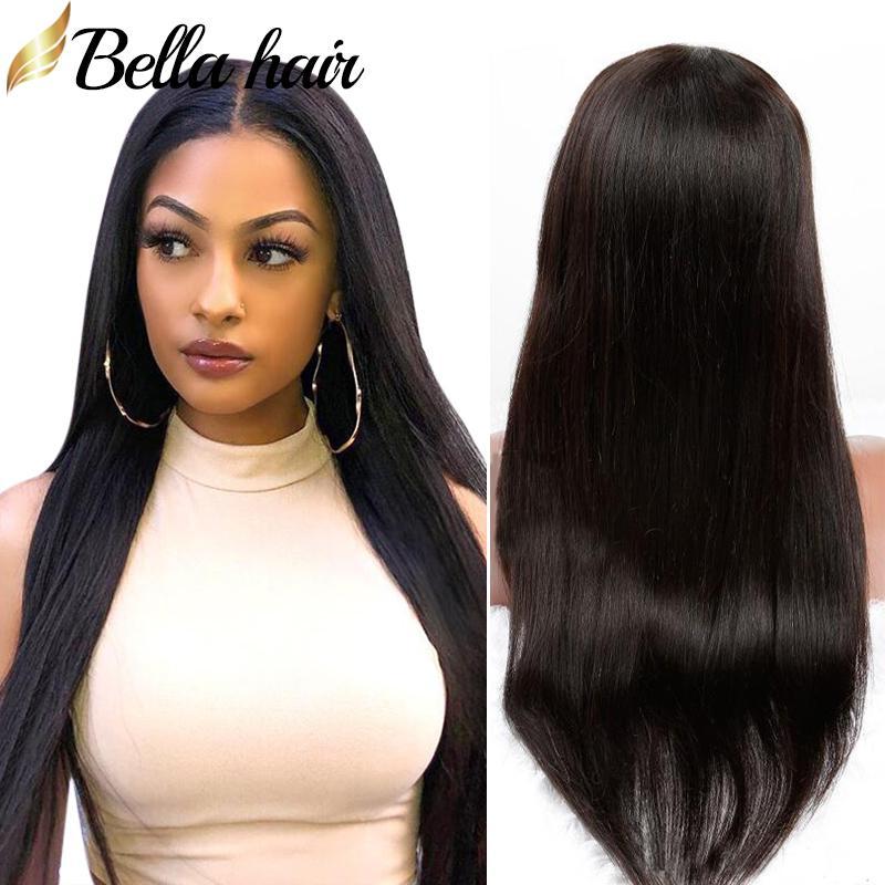 Lace Front Pruiken Menselijk Haar Pruiken Rechte Braziliaanse Virgin Haar Volledige Kant Pruik Middle Deel Natuurlijke Kleur Bella Haar