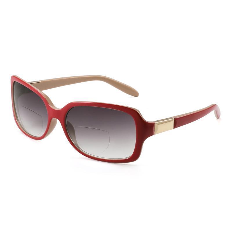 Square bifocales gafas de sol de las mujeres Lector gradiente de la lente Gafas de sol de lectura