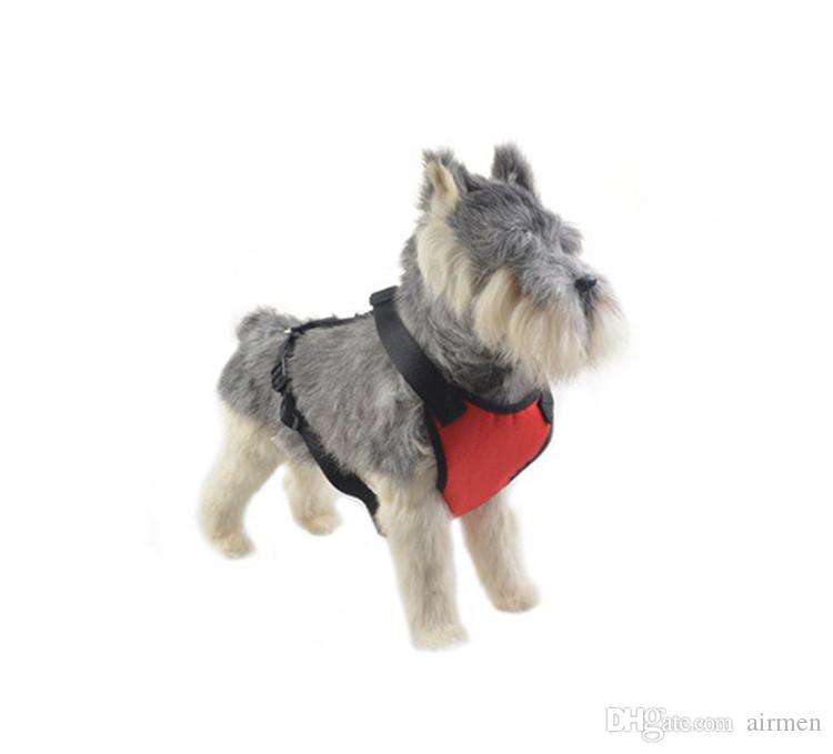 جديد 5 ألوان الكلب الياقات المقاود multifunction pet سيارة الصدر الخلفي الكلب حزام الصدر سيارة مقعد الصدر حزام مزدوج حيوانات منزلية بالجملة