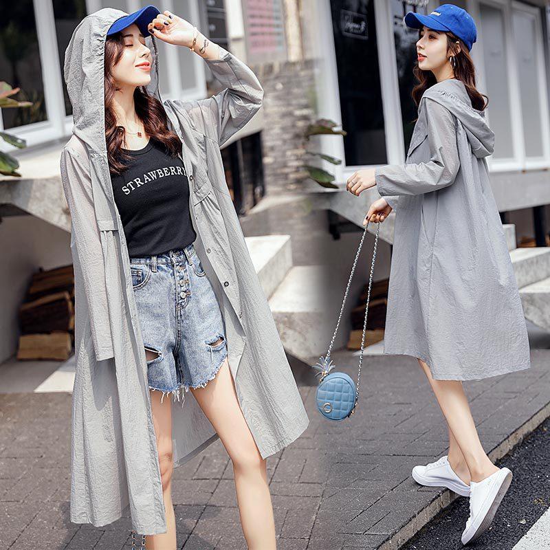 Veste courte 2019 mode estivale couture simple personnalité coutures à manches longues plis longs de couleur unie