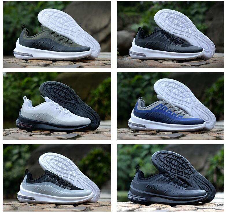 Zapatillas моды новой оси 98S кроссовки Тройной Черный Белый Deep Blue Прохладный серый для мужчин женщин Кроссовки Кроссовки