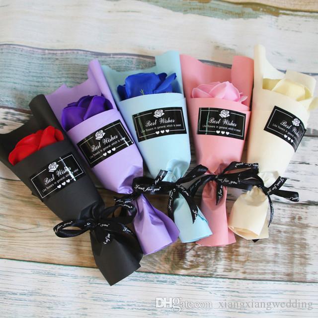Solo jabón flor flor artificial artificial creativo día de tarjeta del día de San Valentín jabón flor romántico preservado flores regalos promocionales