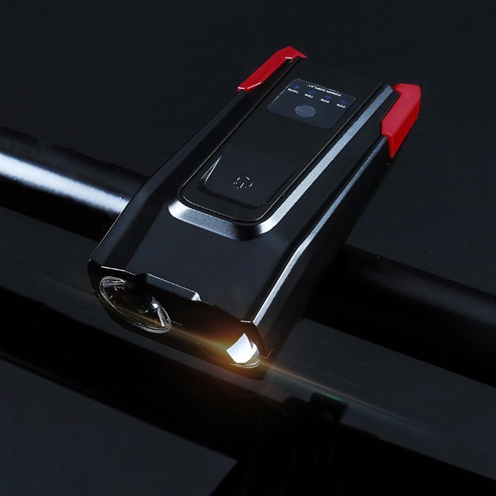 Vertvie 4000mAh USB rechargeable par induction vélo intelligent lumière Corne modes multi-étanche Vélo Headligh Accessoires pour vélo Y191211