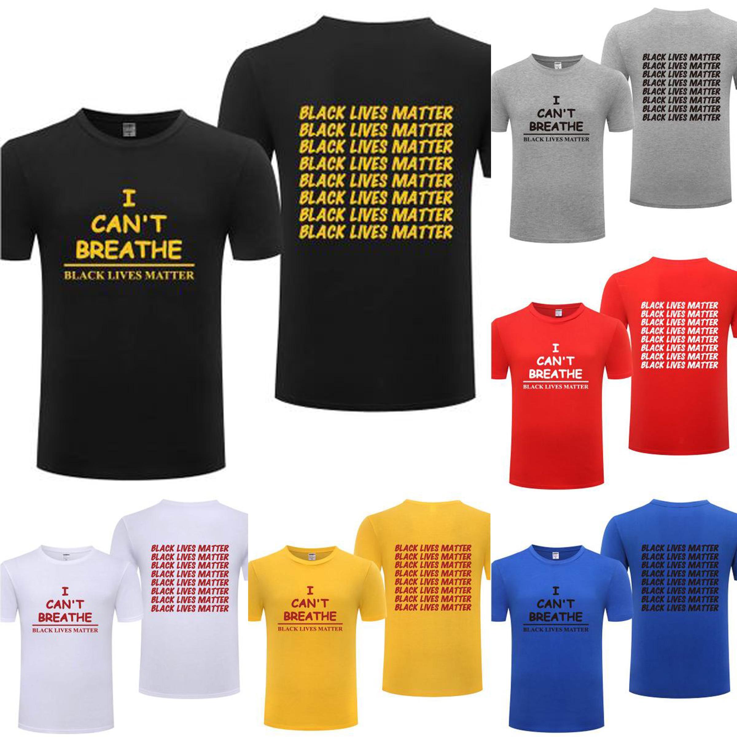 17 colori Nero Abita Materia Mens T Shirt Lettera I Cant Breathe Top 2020 Summer Fashion Streetwear per le lotte Parade Donna Nuovo Uguaglianza