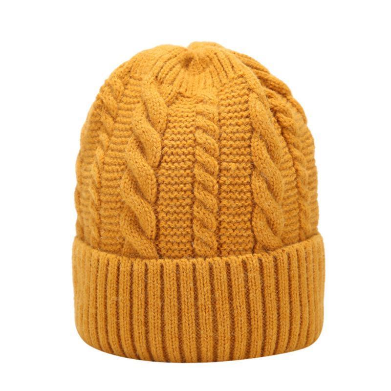 Cap Crochet Moda Unissex Gorro morno mulheres Gorros Sólidos Hat Faux Fur Mulheres de pelúcia Chapéus Proteção de orelha Casual