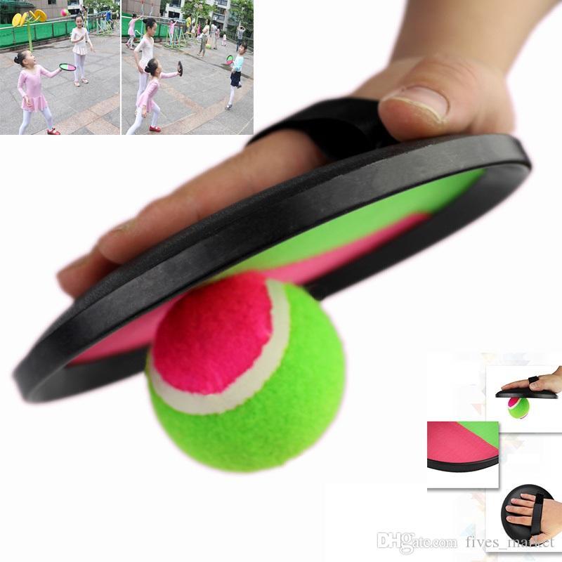 3pcs / set balle jouets collant cible raquette intérieur et extérieur plage Fun Sports Parent-Child Interactive Throw et Catch nouveauté articles HH7-981