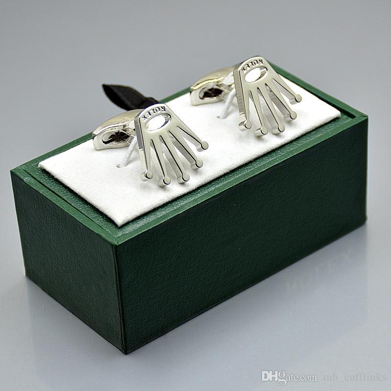 Lüks adam hediyeler için Kol Düğmesi Kutusu Marka klasik kol düğmesi ile Promosyon fiyat Rx damat gömlek Cufflink kol düğmeleri
