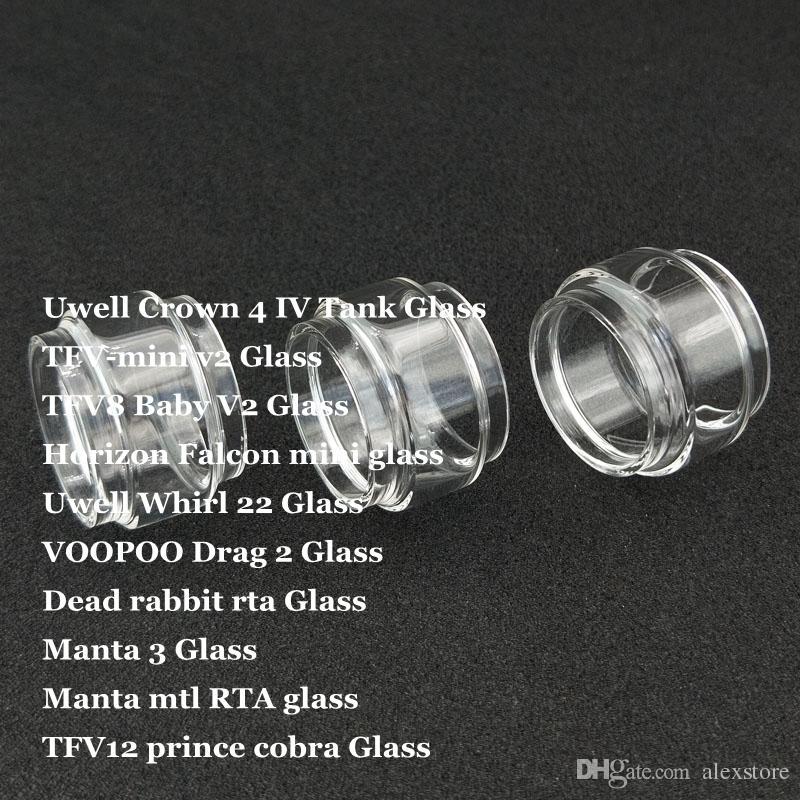 Fat Replacement Bulb Glass Tube for Crown 4 IV Whirl 22 TFV-mini v2 TFV8 Baby V2 Falcon mini Drag 2 Manta 3 MTL TF12 Prince Cobra