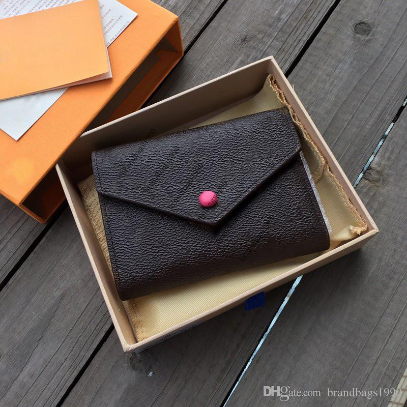 Wholesale Portefeuille en cuir pour femme Multicolore Court Portefeuille Porte-cartes Femme Porte-monnaie Classique Femme de poche Femme Portefeuille M41938