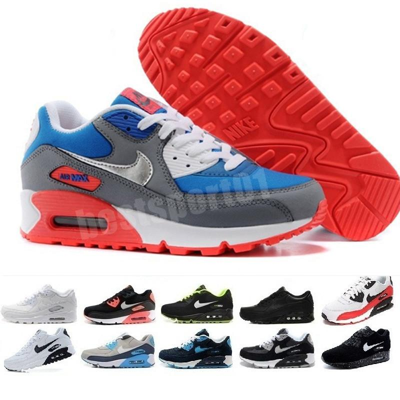 2020 Hot Men Sneakers Shoes Classic 90 Men and woman Shoes Sports Trainer Air Cushion Surface Breathable Sports Shoes 36-45 B0326