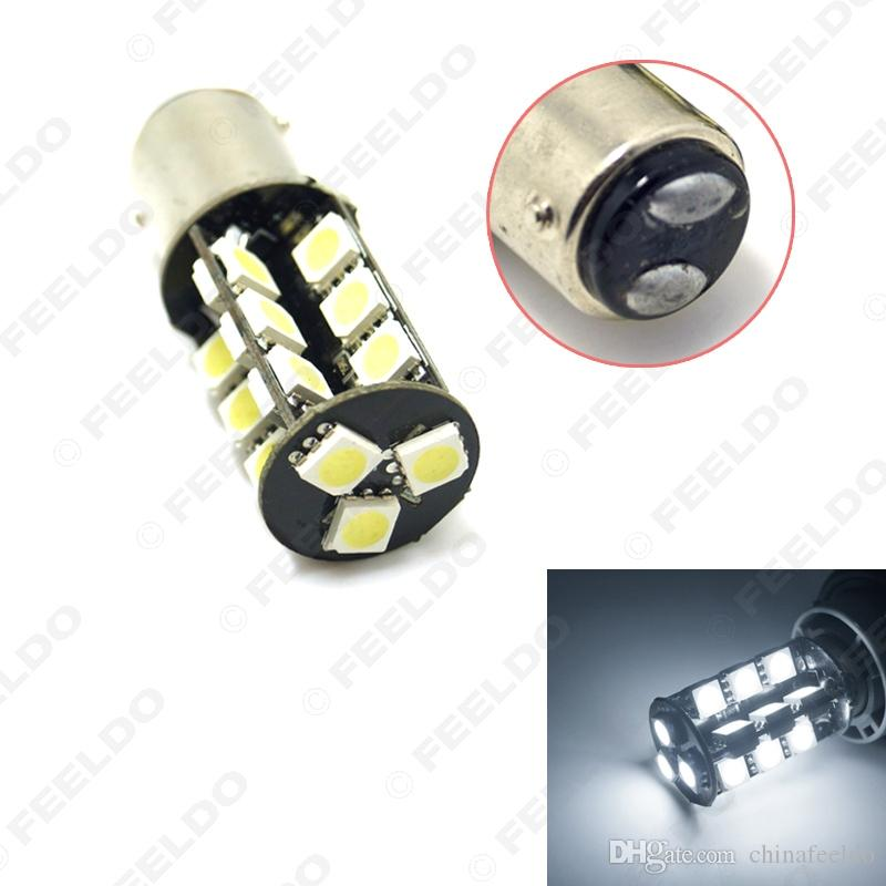 vente en gros super voiture blanche BAY15D / 1157 5050 puce 27LEDs Canbus aucune erreur de frein de voiture clignotant LED lumière # 4708