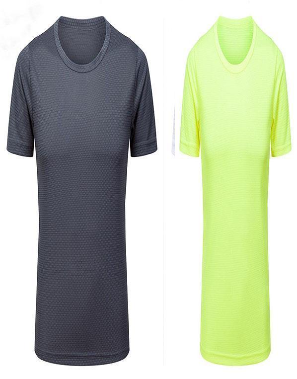 1042 Herren-eng anliegende Fitness-weiß-graue Kleidung kurzärmelige Sportbekleidung Stretch schnell trocknende Kleidung T-Shirt läuft