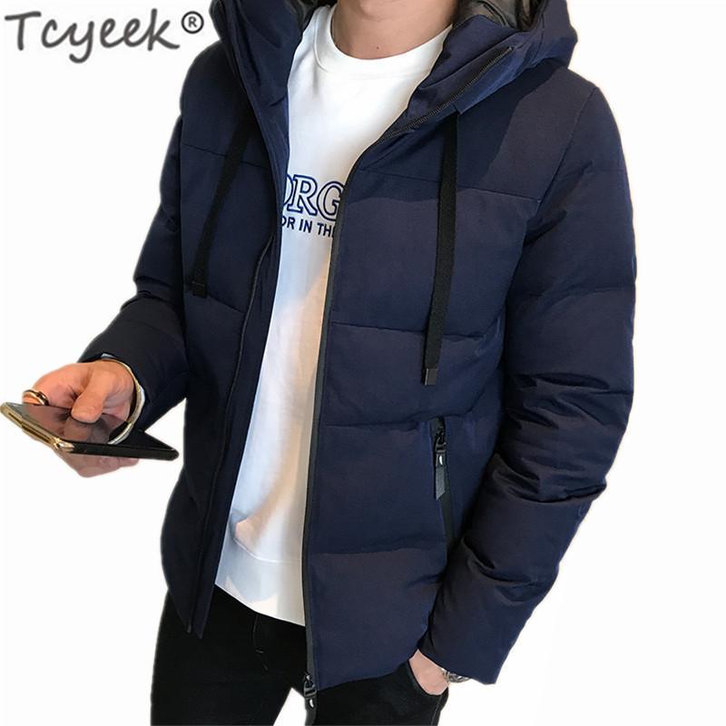 Giacca inverno degli uomini di spessore Giù cappotto del cotone Plus Size 4XL vestiti di modo Cappello con cappuccio Top Parka Hombre LWL865