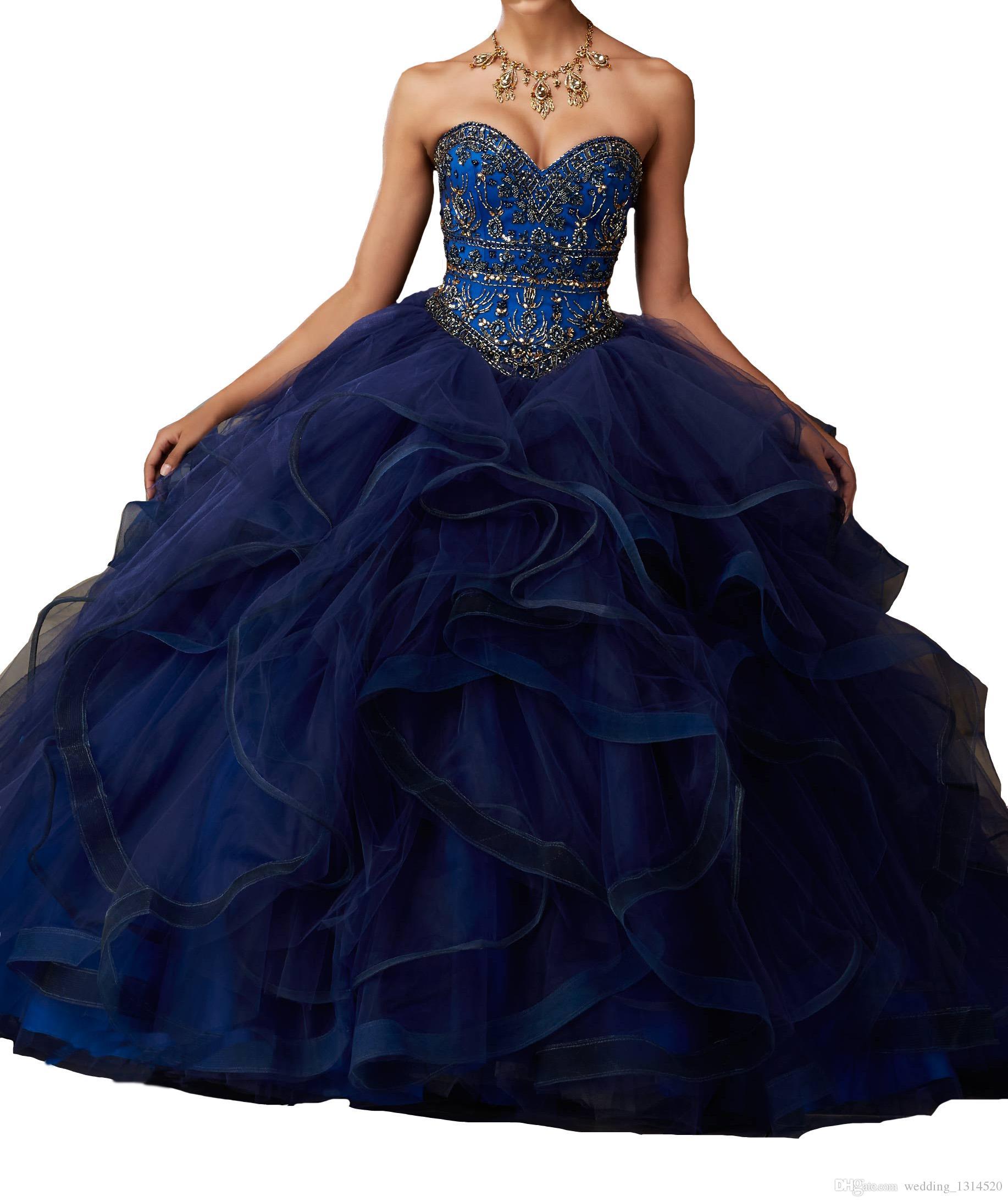 15 16 Kız Dans Parti Elbise fabrika ücretsiz nakliye çıkış için Kadınlar Sweetheart Quinceanera Modelleri Ruffles Rhinestone Abiye