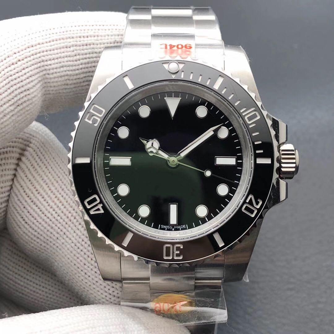 N Lüks Erkek Saatler 904L Rafine Çelik 3130 Otomatik İzle Hareketi Yok Takvim Su Ghost Designer Saatler Marka Saatler
