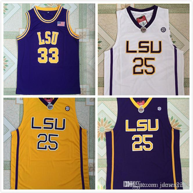 Louisiana State Academia Montverde Eagles Ben Simmons Jersey 20 hombres de baloncesto de LSU Tigers Colegio Simmons 25 33 O Neal Jersey Sticthed
