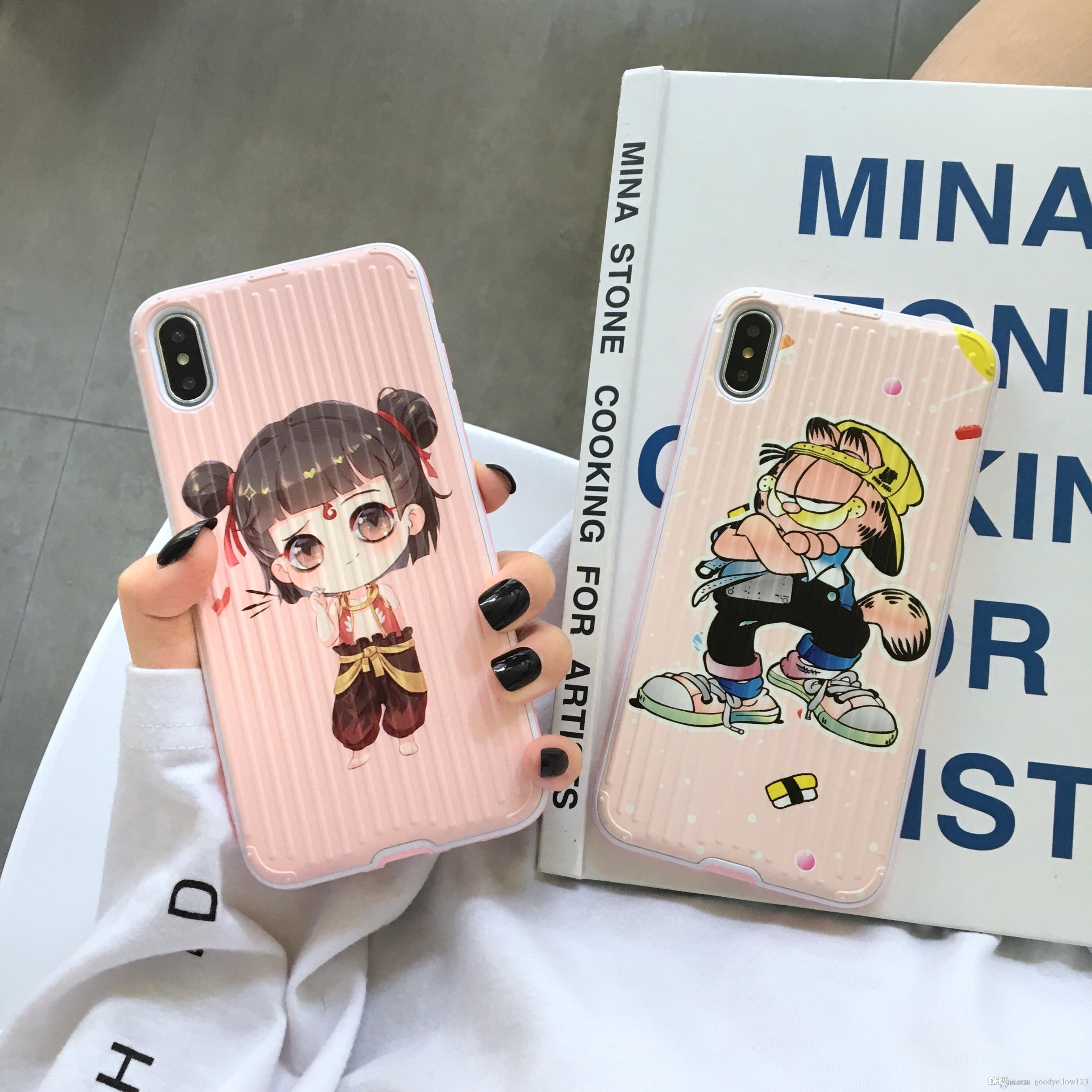 Cute Cartoon Non Slip Surface Classic Nezha Garfield Shockproof Case Iphone 11 X Xr Xs Max 8 7 Plus 6 6s Plus Leather Cell Phone Cases Phones Cases From Goodyellow123 5 03 Dhgate Com
