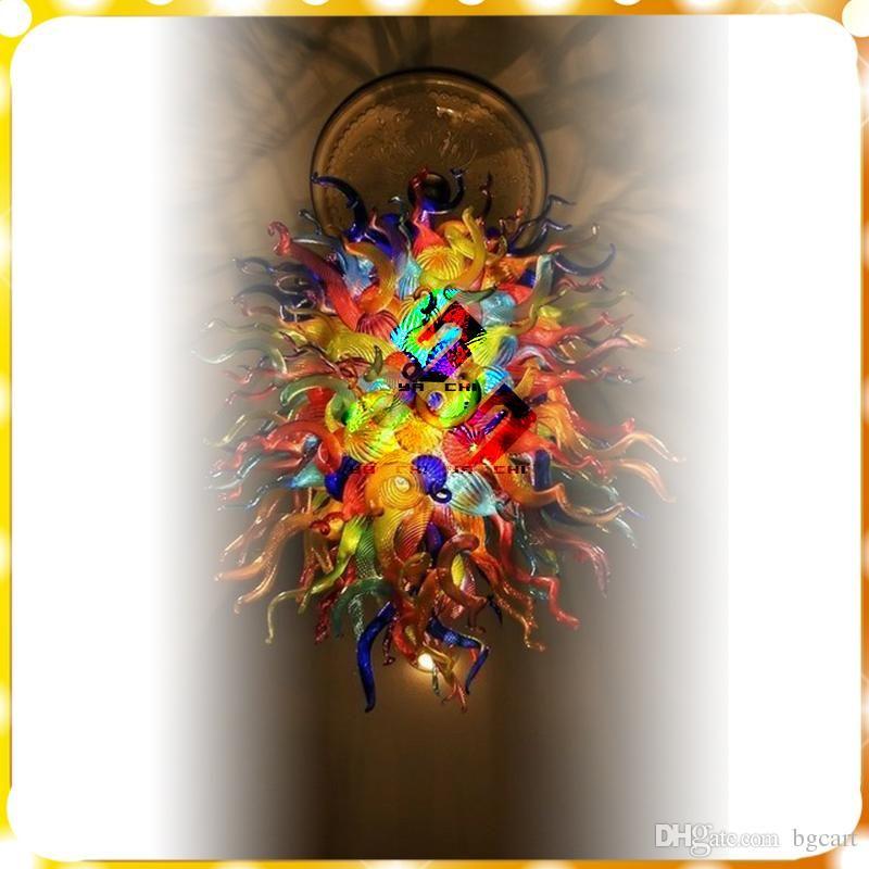 اليد داخلي العتيقة الزجاج المنفوخ الثريا ضوء تشيهولي أسلوب الفن الحديث ديكو إيطاليا تصميم زجاج مورانو قلادة مصابيح غرفة النوم ديكور