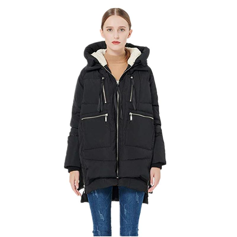 Las mujeres espesado por la chaqueta abrigos Mujeres largo acolchada con capucha Parka chaqueta caliente Tamaño abrigos Mujer Plus 5XL Orolay