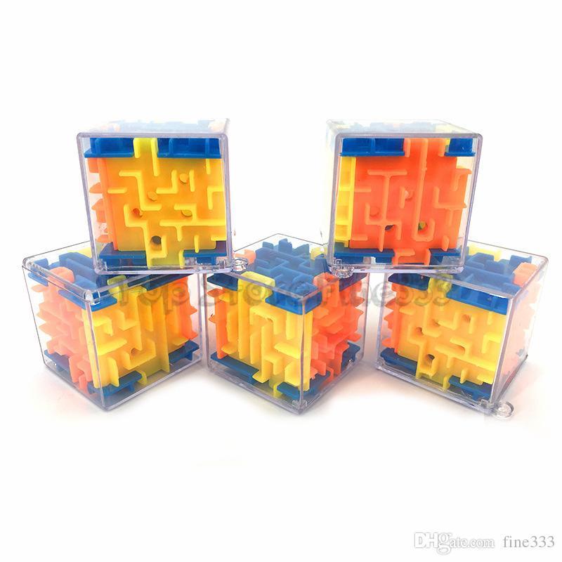3D Küp Bulmaca Labirent Oyuncak El Oyun Kutusu Kutusu Eğlenceli Beyin Oyunu Meydan Fidget Oyuncaklar Denge Eğitici Oyuncaklar çocuklar için