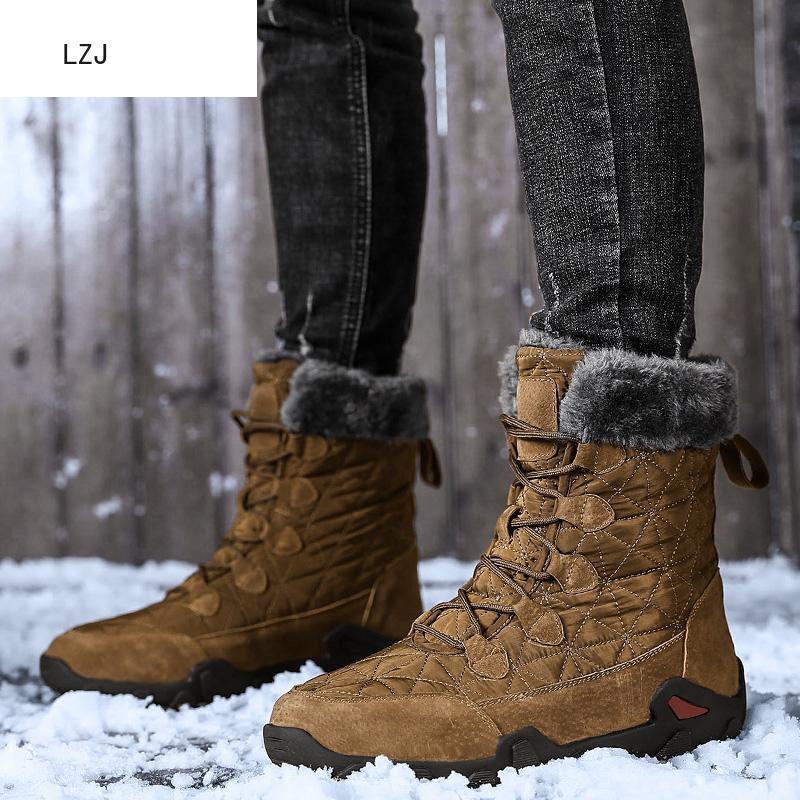 38-48 Men Boots Plus Size Winter Shoes Men Plush Warm Winter Boots Men