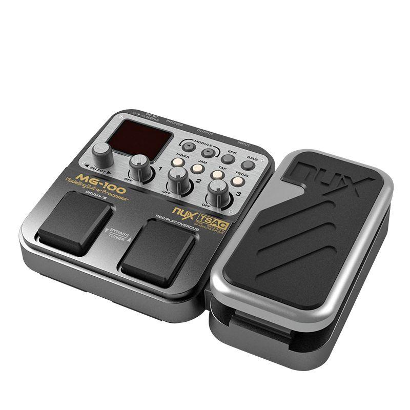 NUX MG-100 MG100 Моделирующий гитарный процессор Педаль эффектов гитарного барабанного тюнера Многофункциональный с гитарным процессором моделирования