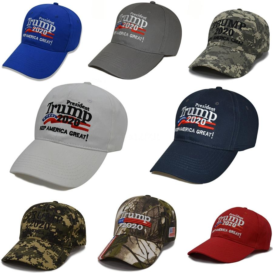 Donald Trump 2020 Baseball Hat font de l'Amérique Grande Lettre de broderie réglable Mesh Sport Cap Président Election Snapback Hha1340 # 968