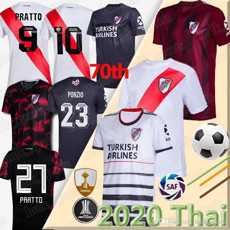 2020 2021 River Plate-rote weißen Fußball-Jersey weg 19 20 Riverbed River Plate Fußball-Hemd 2020 Customized Fußball-Uniform Verkäufe