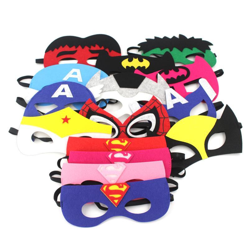 2020 Cartoon Cosplay Felt Masks Superman Batman Spiderman
