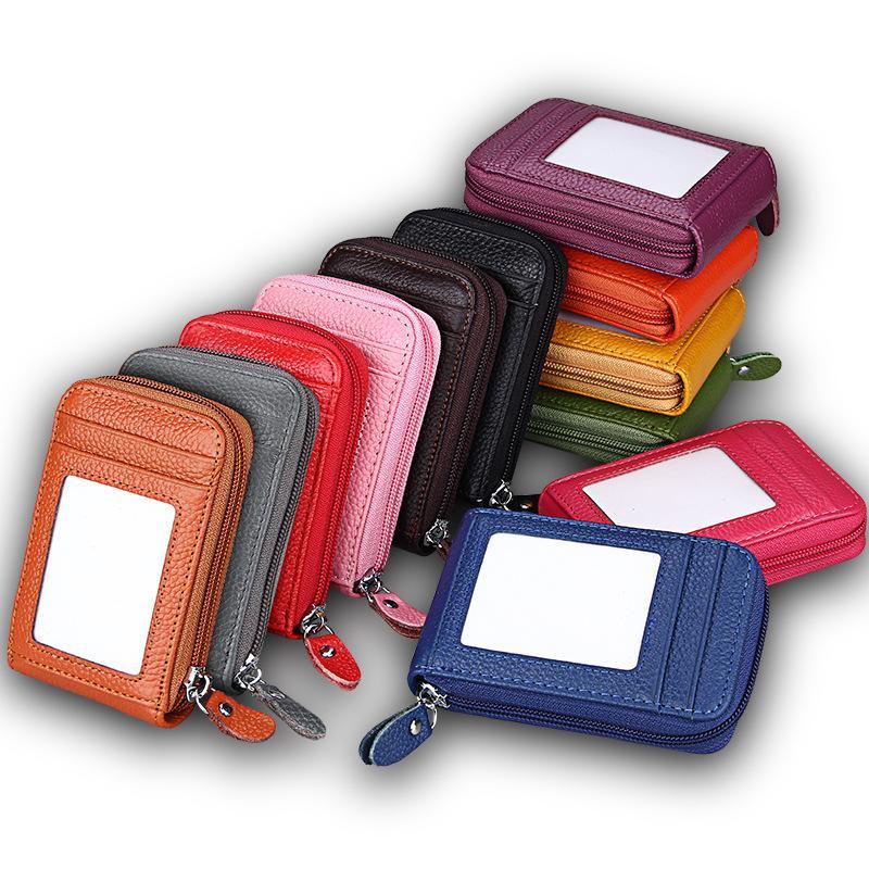 Moda-Senhoras cartão bolsa saco de couro chave de acesso pacote de Lady Vertical zipper Car keypack realizar uma bolsa mudança em sua mão