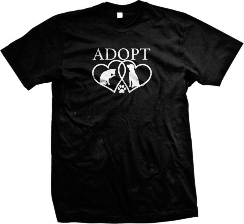 Nehmen Sie Hundeherzen Druck Shelter Rettungshunde Herren T-Shirt (1)