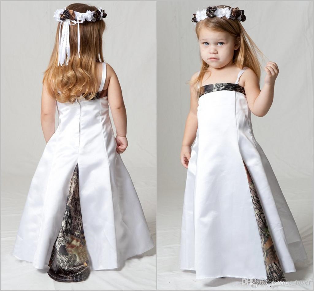 Belle Camo Robes De Fille De Fleur pour La Fête De Mariage De Mariage