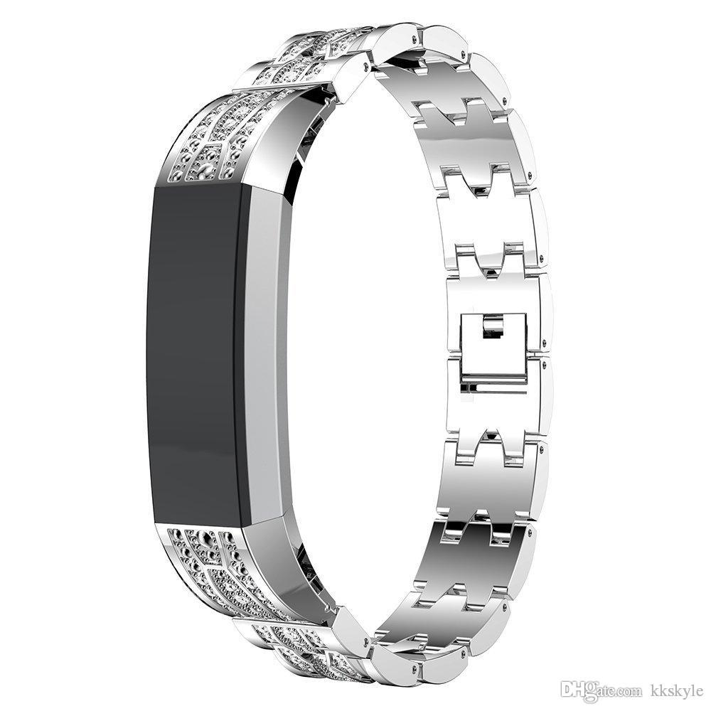Fitbit Alta Bands Stainless Metal Bands With Rhinestone Adjustable