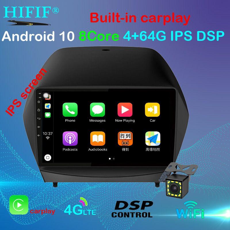 """Android 10 9"""" 2DIN Rádio Carro Para 2009 2010 2011 2012-2015 IX35 GPS Multimedia Player com Bluetooth WIFI OBD2 dvd carro"""