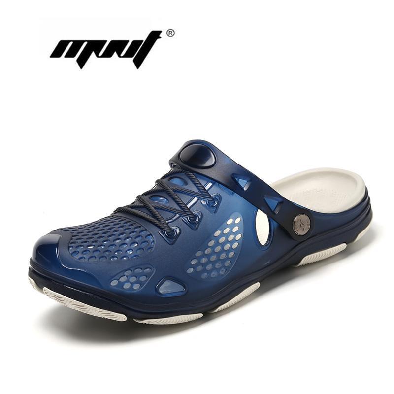 Летняя обувь Jelly Shoes Пляжные мужские сандалии Полые тапочки Дышащие мужские шлепанцы Уличная обувь Мужчины Dropshipping